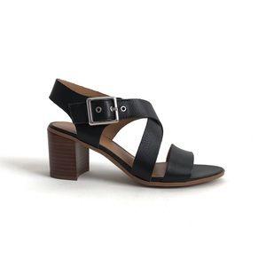 Franco Sarto Helga Black Leather Sandals